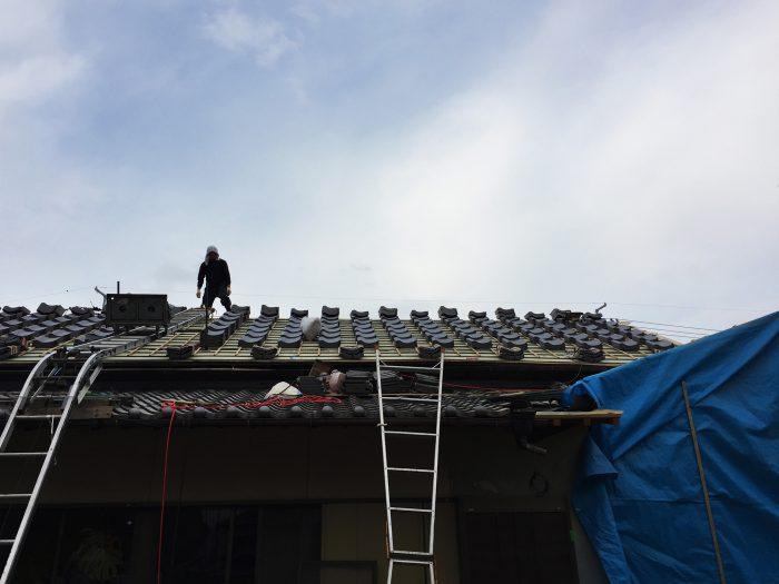 瓦葺き施工