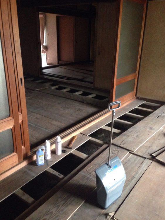 古民家の床