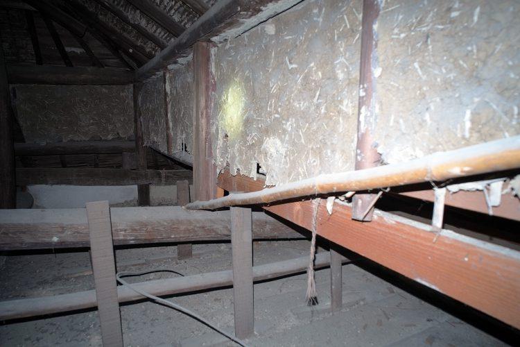 天井の土壁