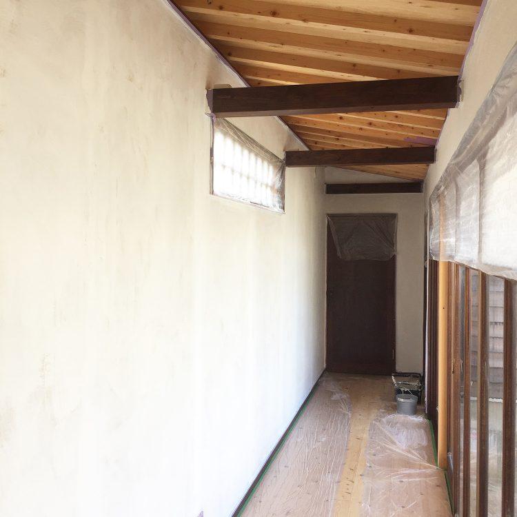 廊下の塗装完了