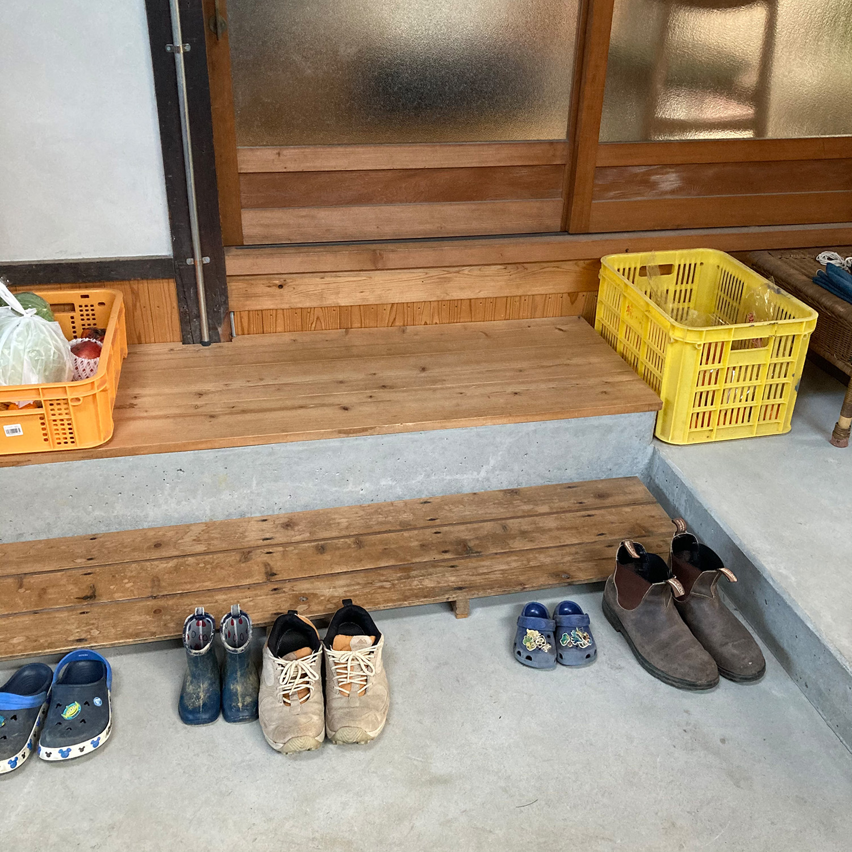 土間の靴を脱ぐところ