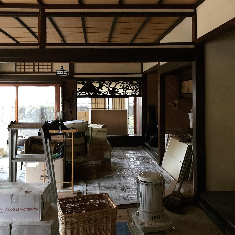 和室の漆喰塗り